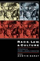 Race  Law  and Culture PDF