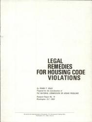 Legal Remedies for Housing Code Violations PDF