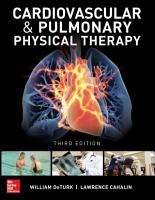 Cardiovascular and Pulmonary Physical Therapy  Third Edition PDF