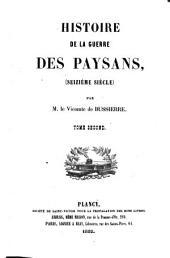 Histoire de la guerre des Paysans: seizième siècle
