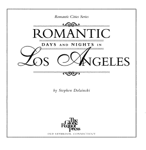 Romantic Days and Nights in Los Angeles PDF