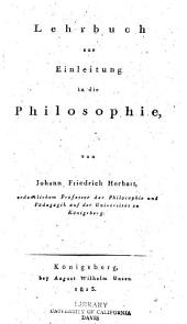 Lehrbuch zur Einleitung in die Philosophie