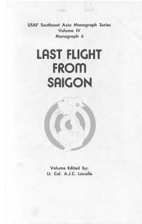Last flight from Saigon Book