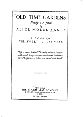 Old Time Gardens: Newly Set Forth