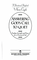 Answering God s Call to Quiet PDF