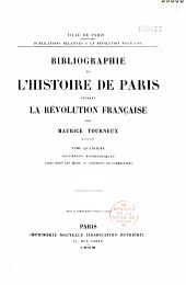 Bibliographie de l'histoire de Paris pendant la Révolution Française: Volume2