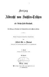 Herzog Albrecht von Sachsen-Teschen als Reichs-feld-marschall: Bd. Jänner bis October 1794
