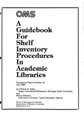 A Guidebook for Shelf Inventory Procedures in Academic Libraries: Issue 10; Issue 1985