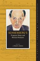 Schoenberg s Program Notes and Musical Analyses PDF