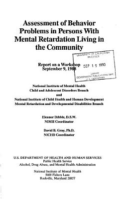 Assessment of Behavior Problems in Persons with Mental Retardation Living in the Community PDF