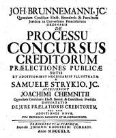 De Processu Concursus Creditorum Praelectiones
