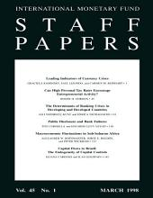 IMF Staff papers: Volume 45, Issue 1