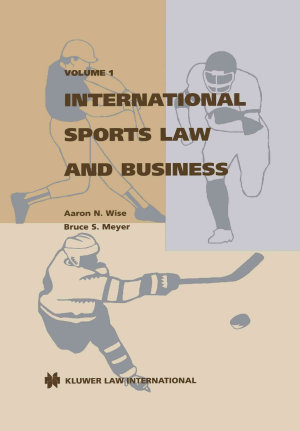 International Sports Law and Business PDF