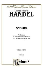 Samson (1743): Choral Worship Cantata