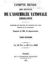 Compte rendu des séances de l'Assemblée nationale: Volume8