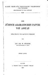 Die jüdisch-aramaeischen Papyri von Assuan