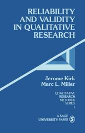 Reliability and Validity in Qualitative Research