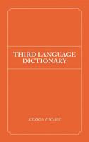 Third Language Dictionary PDF