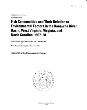 Fish Communities and Their Relation to Environmental Factors in the Kanawha River Basin  West Virginia  Virginia  and North Carolina  1997 98 PDF