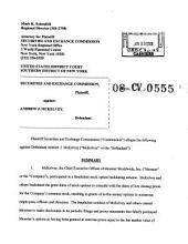Andrew J. McKelvey: Securities and Exchange Commission Litigation Complaint