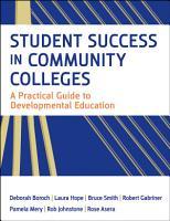 Student Success in Community Colleges PDF