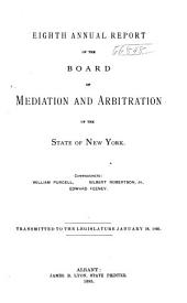 Annual Report of the Board of Mediation and Arbitration of the State of New York: Volume 8