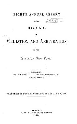 Annual Report of the Board of Mediation and Arbitration of the State of New York PDF