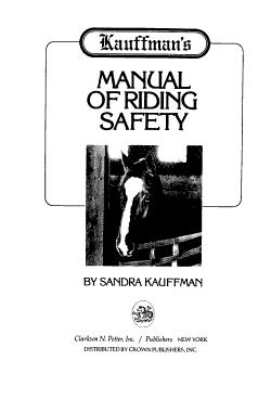 Kauffman s Manual of Riding Safety PDF