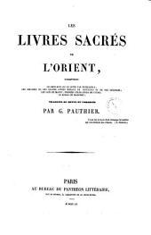 Les livres sacres de l'orient le Chou-king ou le livre par excellence ... trad. ou revus et corrigés par G. Pauthier