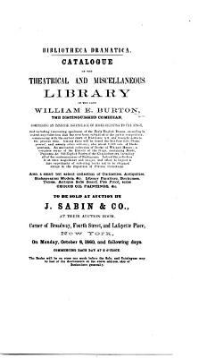 Bibliotheca Dramatica PDF
