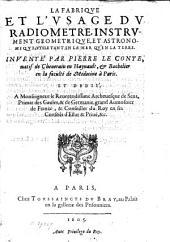 La fabrique et l'usage du radiomètre, instrument géométrique astronomique