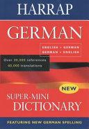 Harrap super mini German dictionary PDF
