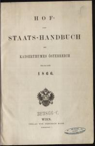 Hof  und Staats Handbuch des Kaiserthumes   sterreich PDF