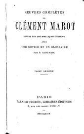 Oeuvres complètes de Clément Marot: Épigrammes