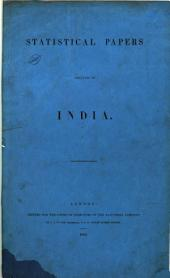 Statistical Papers Relating to India
