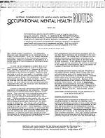 Occupational Mental Health Notes