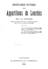 Histoires intime des apparitions de Lourdes
