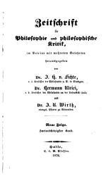 Zeitschrift f  r Philosophie und philosophische Kritik PDF