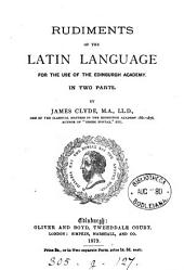 Rudiments of the Latin language
