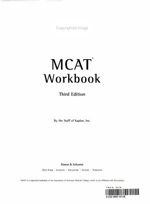 MCAT Workbook(KAPLAN)(3판)