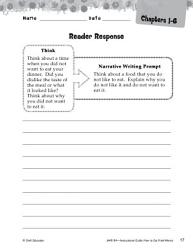 How to Eat Fried Worms Reader Response Writing Prompts