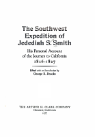 The Southwest Expedition of Jedediah S  Smith PDF