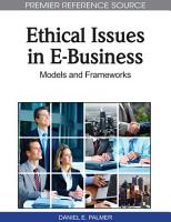 Ethical Issues in E Business  Models and Frameworks PDF