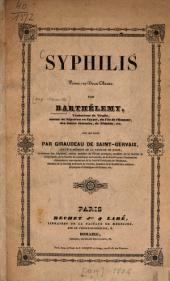 Syphilis: Poème en 2 Chants