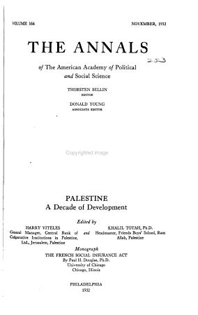 Palestine  a Decade of Development PDF
