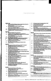 Microscopy and Analysis PDF