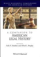 A Companion to American Legal History PDF
