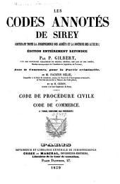 Les codes annotés de Sirey: Code de procédure civile et code de commerce