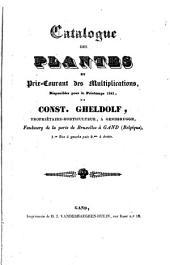 Catalogue des plantes et prix-courant des multiplications, disponibles pour le printemps 1841