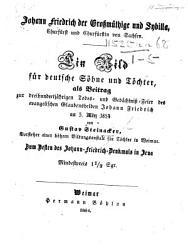 Johann Friedrich der Grossm  thige und Sybilla  Churf  rst und Churf  rstin von Sachsen   In verse   PDF